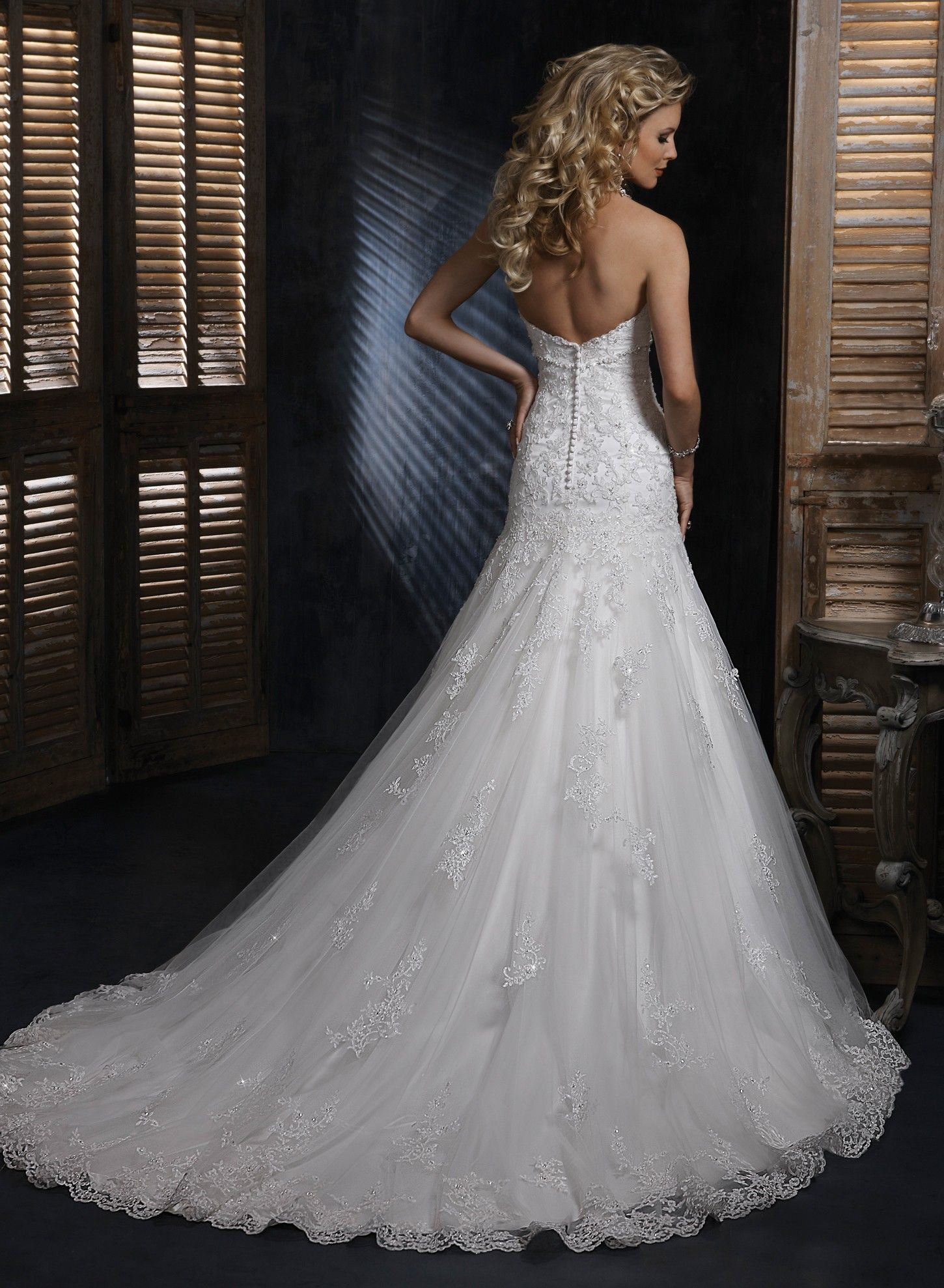 A Line Lace Wedding Dresses  Lace Sweetheart Strapless Aline Wedding Dress  Wedding Dresses