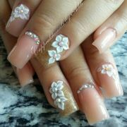 nude acrylic nails nailpolish