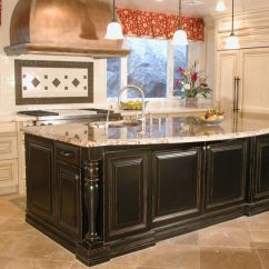Painted Kitchen Islands Cheap Rooster Decor For High End Tuscan This