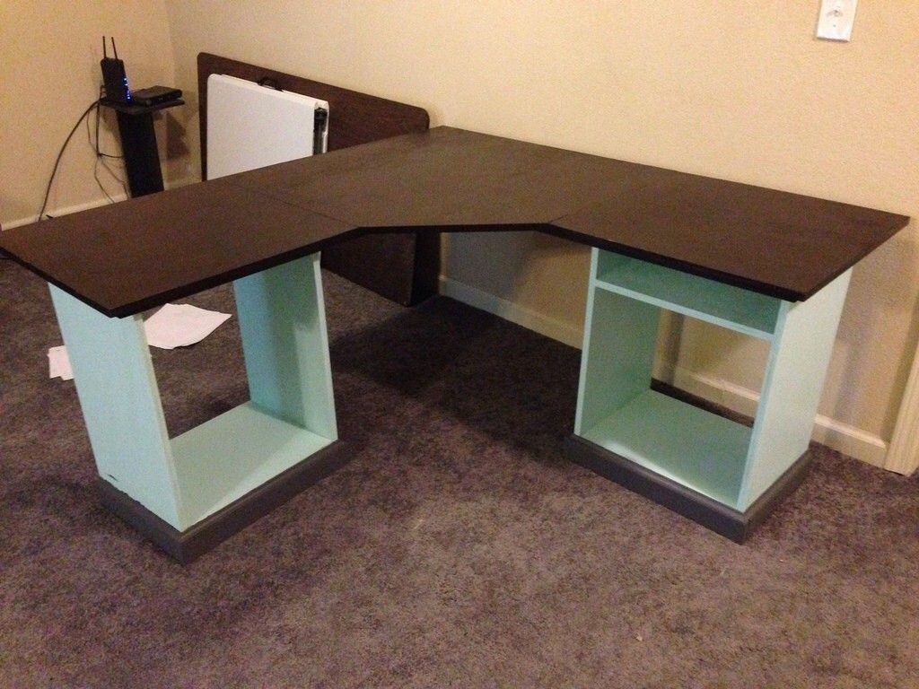 Diy L Shaped Desk  Home sweet home  Pinterest  Desks