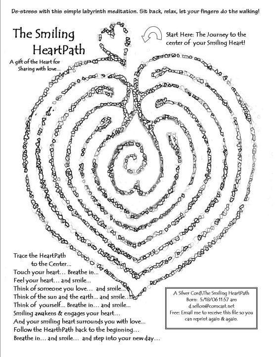 Heart path labyrinth. Modify for prayer and labyrinths