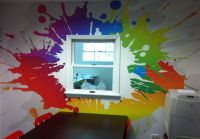 paint splatter decorating ideas - Google Search | Emma's ...