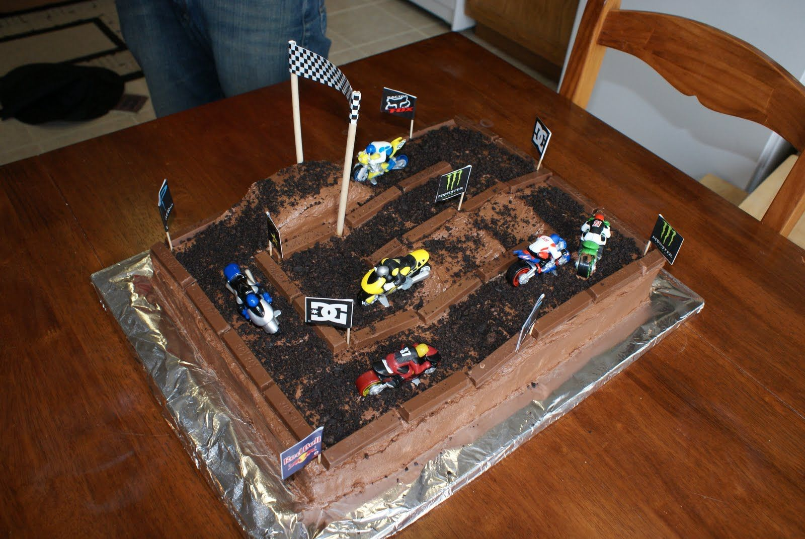 Dirtbike Cake For A Dirtbike Themed Party This Makes