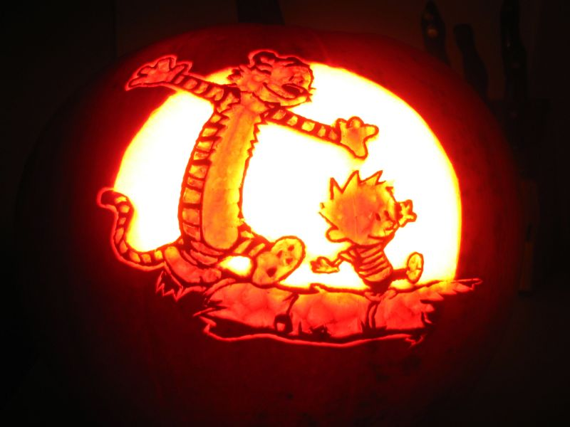 Image result for calvin and hobbes halloween massacre