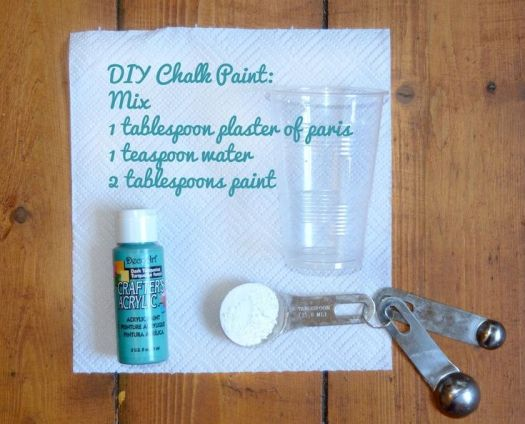 Diy How To Make Chalk Paint Great For Kitchen Cupbords And Jars Organising Office Nursery