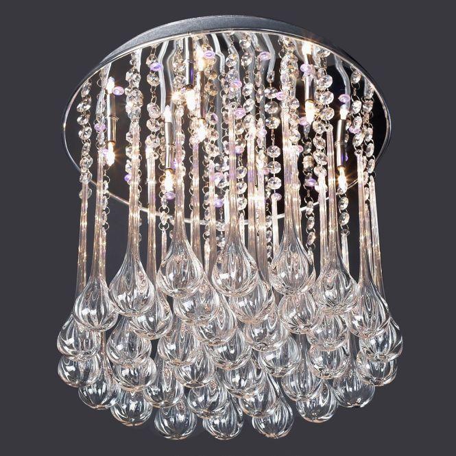 Crystal Chandeliers Modern Round 10 Light Chandelier