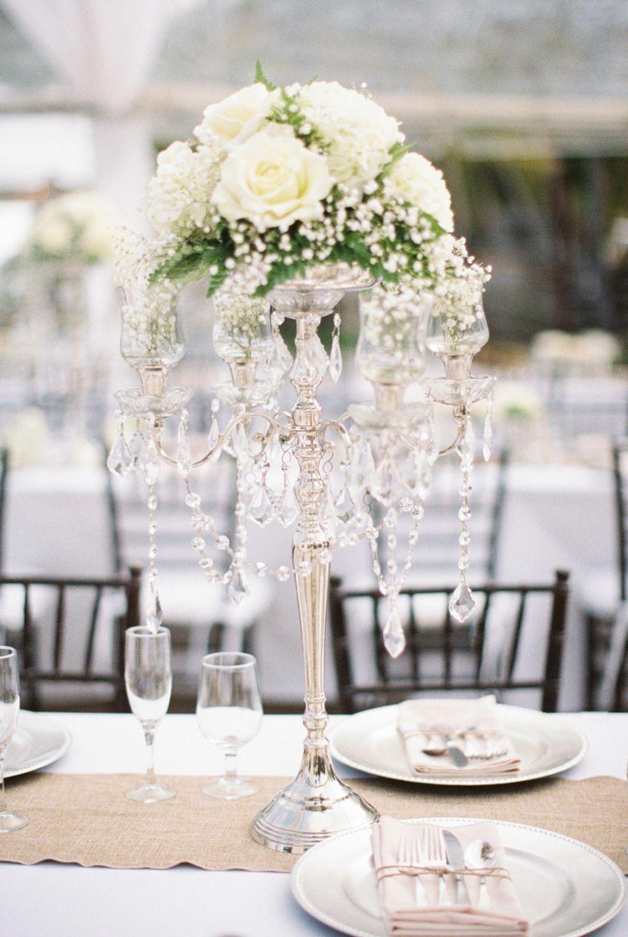 Simple White Wedding Centerpieces