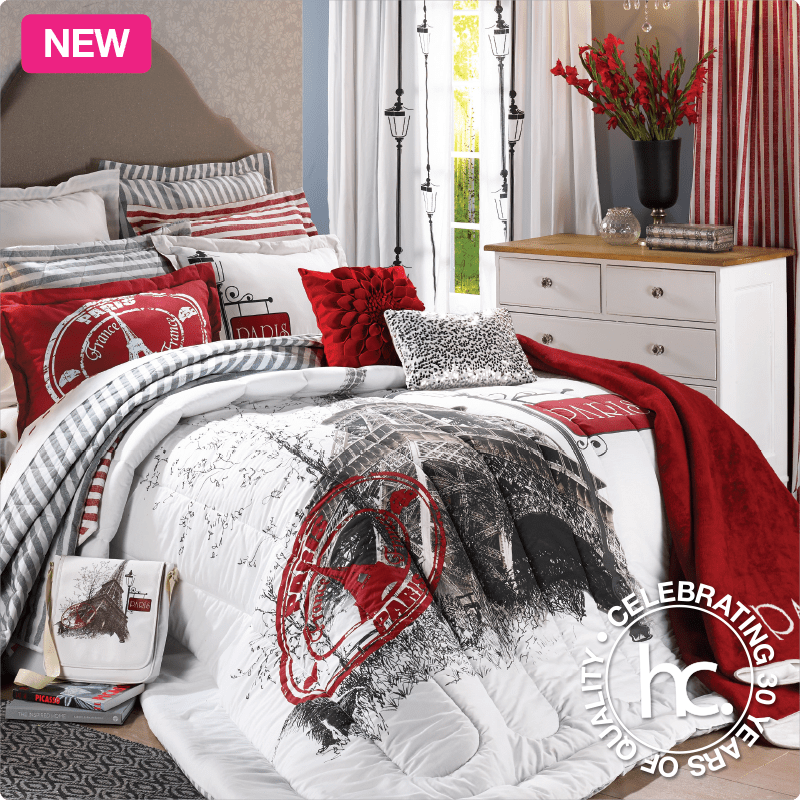 Bring Parisian style to your bedroom with the Paris