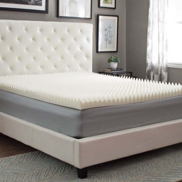 Egg Crate Mattress Topper Queen Size Memory Foam Bed Cover 3 Inches Pad Home