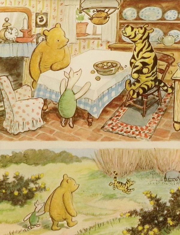 Vintage Classic Winnie Pooh Wall Hanging. Love