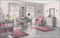 1923 Gray & Pink Bedroom - Bedroom Design of the 1920s ...
