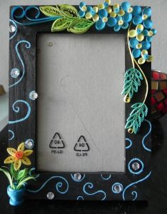 Beautiful handcrafted photo frame with quilled  design also quilling and album rh pinterest