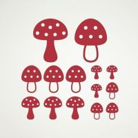 Mushroom Wall Decals Toadstool Woodland Baby Nursery Theme ...