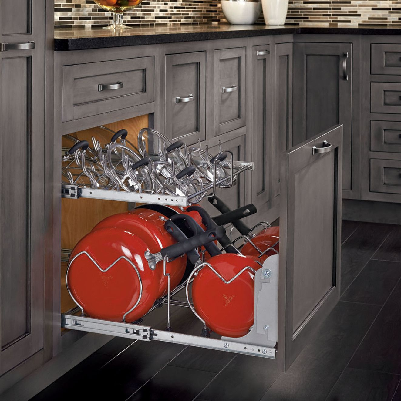 two tier kitchen drawer organizer cheap stools rev a shelf cookware quotstorganizing