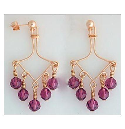 Wire Jig Wred Chandelier Earrings Project Courtesy Of Wigjig Jewelrymaking Handmadeearrings