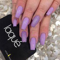 Laque Nail Bar Dope Purple Colour Nails Silver Glitter ...