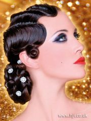 black hair finger waves