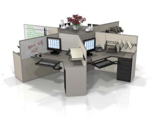 Clusters Pods Office Workstations by Interior Concepts