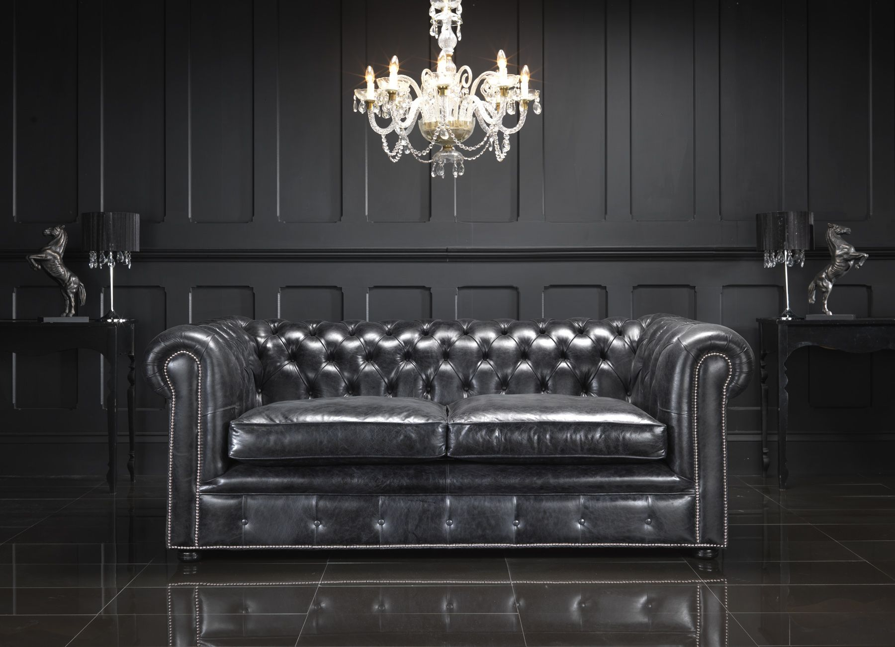 chesterfield sofa living room ideas luxurious sectional sofas amazing black with leather