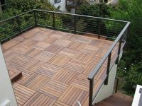 Wood deck over roof - railing on the face of wall and not ...