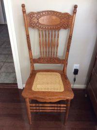 Antique Oak Larkin #1 Pressed Back Chairs-Circa 1900-Cane ...