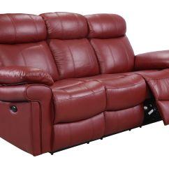 Rosso Red Leather 3 Piece Sofa Set Bensen Recliner Uk Energywarden