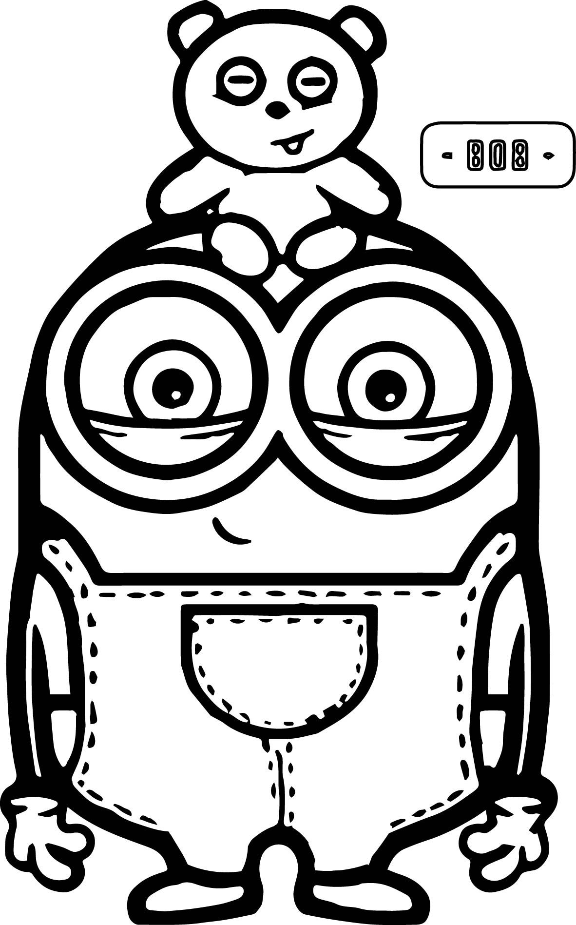 minion coloring sheets