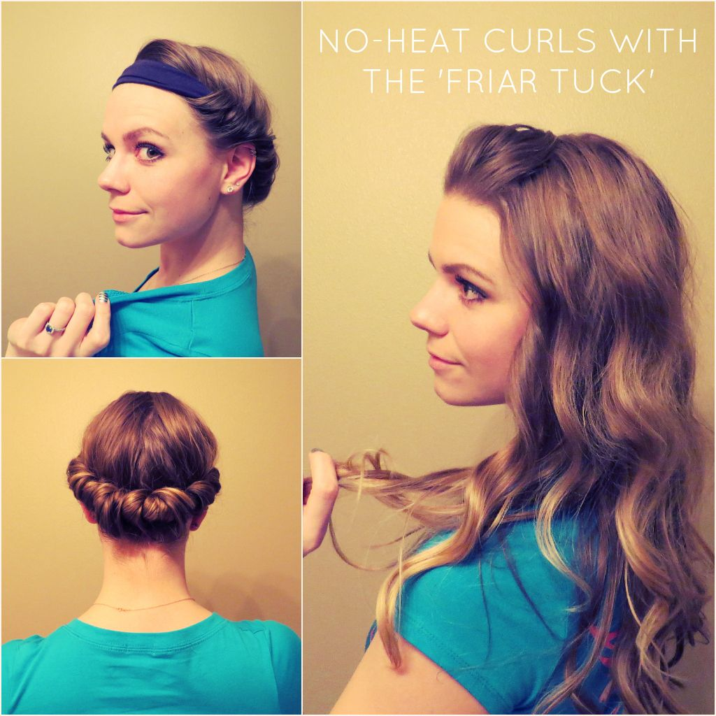 Curl Your Hair Without Heat Using A Headband Video Tutorial I've