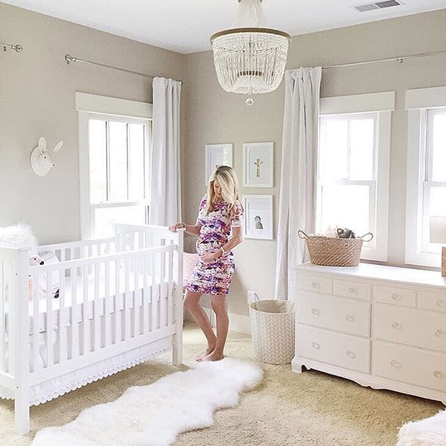 This Sweet Mama Is All Ready For Baby Loving Calm White Nursery E And That Malibu Chandelier Thanks Sharing Room