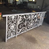 luxury design wrought iron balcony railing for villas