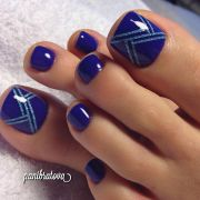 ' sucker blue nails