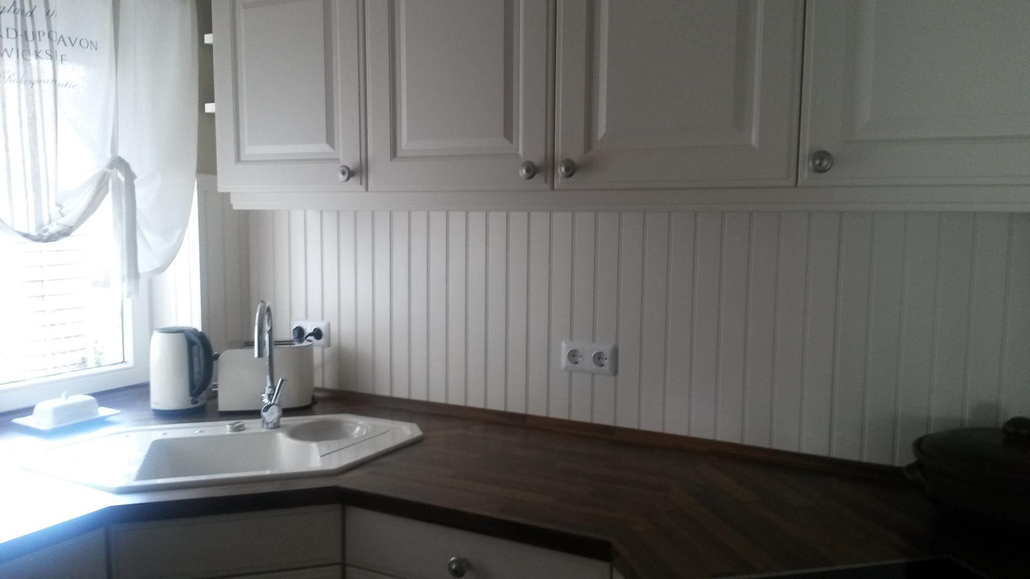 Fliesenspiegel mal anders Wandgestaltung Landhaus Wandverkleidung neue Kche Ikea Kche