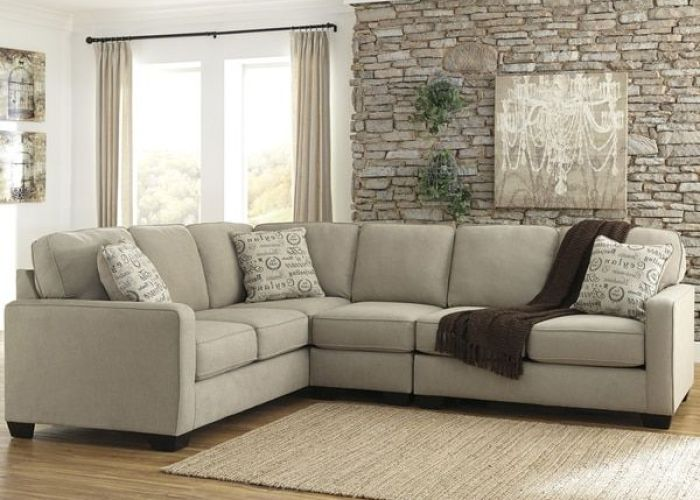 Signature design by ashley alenya piece laf sofa sectional in microfiber also