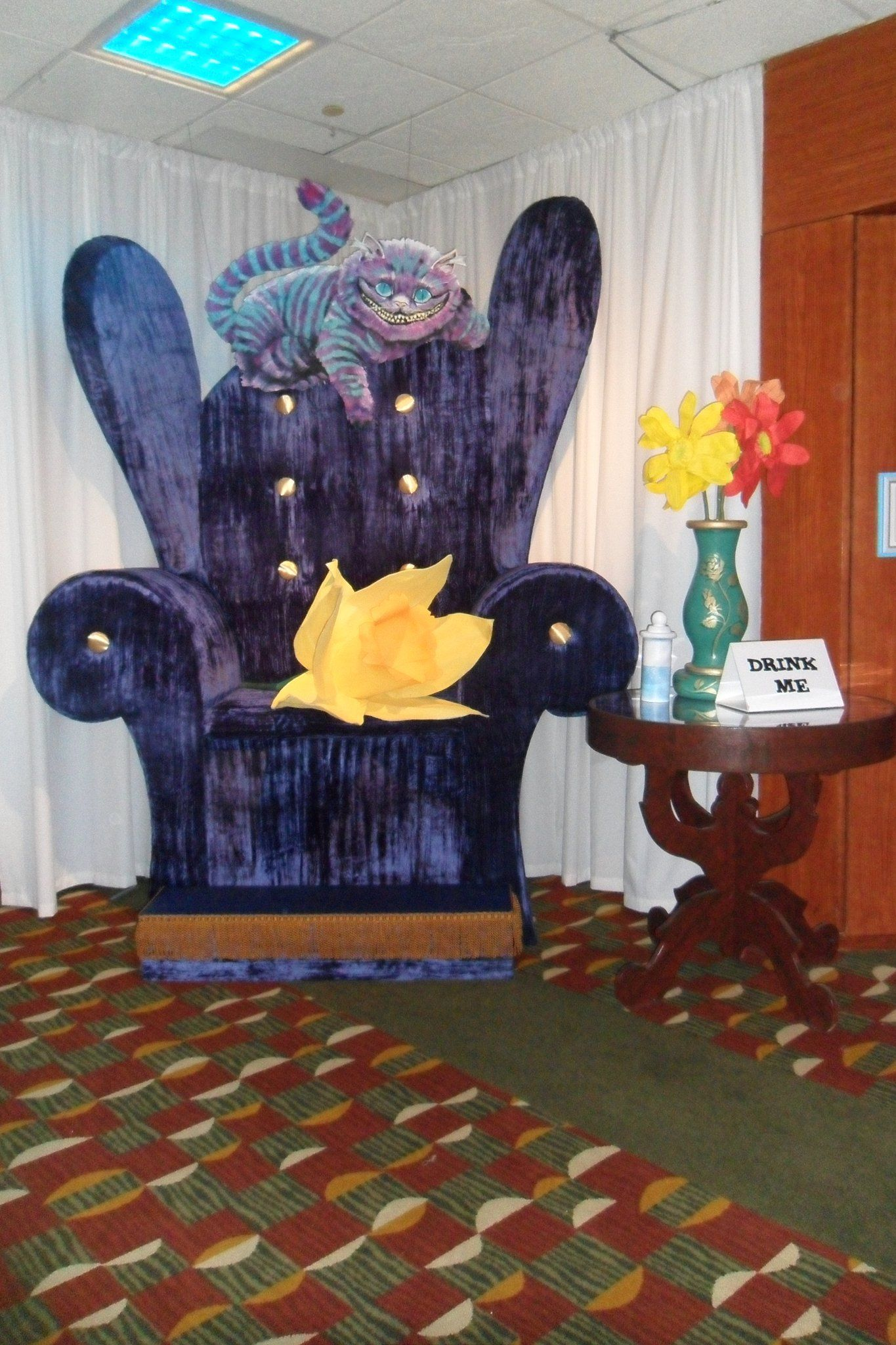 alice in wonderland chair toddler round wooden table and chairs photo op over sized themed gala