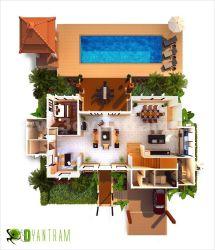 3D Home Design Floor Plan