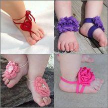 DIY Barefoot Sandals Baby Girl