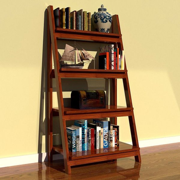 Wooden Ladder Bookshelf Furniture Interior Home