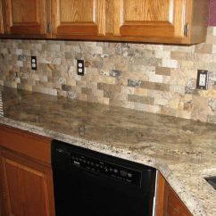 Brick Backsplash In Kitchen Valances For Windows Grey Elegant Range Philadelphia Travertine Mosaic