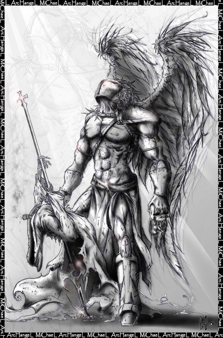 Archangel Raphael Tattoo Half Sleeve