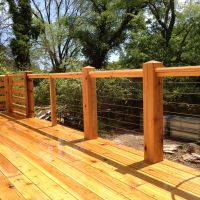 Cedar deck with cable railing