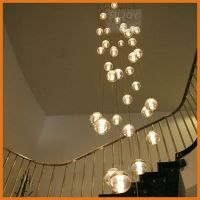 36 LIGHTS CONTEMPORARY CLEAR CAST GLASS SPHERE / BALL ...