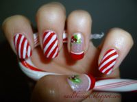 Airbrush Nail Designs candy cane | Nails by Carol: Candy ...