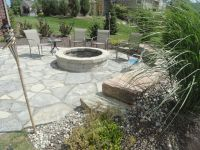 Fire pit and New York blue flagstone.   Fire Pits ...