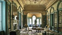 The library and ante-library at Wimpole Hall in ...