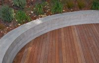 poured concrete curved retaining walls ideas | Small ...