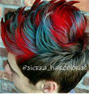 men's hair. haircut. mohawk. red