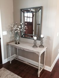 Small entry way. Restored console table, Decor from world ...