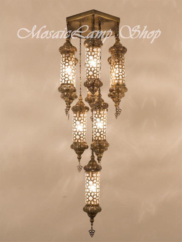 Ottoman Laser Cut Large Chandelier Metal Moroccan Lantern Turkish