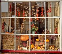 Fall Window Display Ideas for Dandy Boutique store front ...