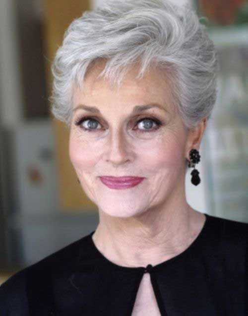 60 Short Hairstyles For Women Over 60 With Fine Hair Pinteres